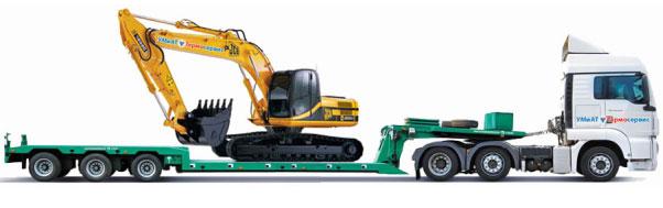Перевозка габаритных грузов на открытых полуприцепах