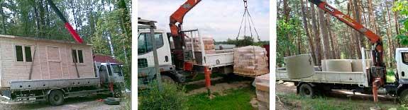 Погрузо-разгрузочные работы тяжелых и габаритных объектов с грузовиков и низкорамных машин
